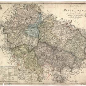 Spezialkarte von der Mittelmark 1791; Bildnachweis: Brandenburgisches Landeshauptarchiv Potsdam