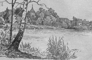 Schwarzweiss Zeichnung Seddiner See