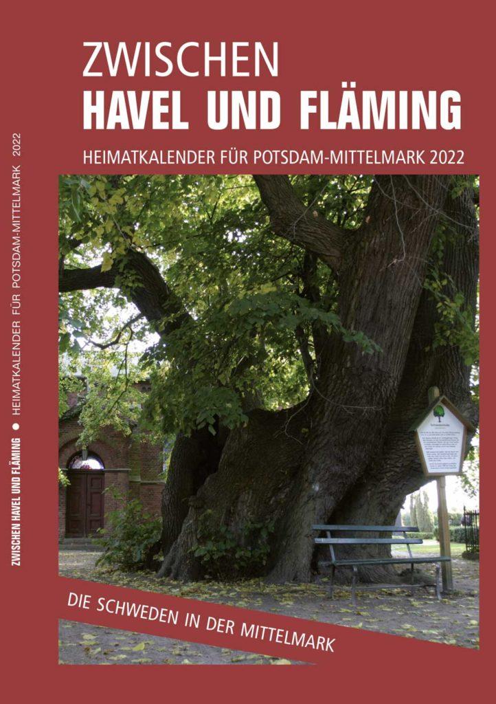Cover des Buches Zwischen Havel und Fläming, der Heimatkalender Potsdam-Mittelmark 2022